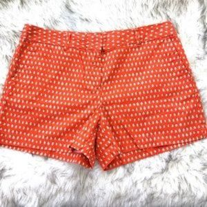 Ann Taylor Loft Orange & Beige Polka Dot Shorts